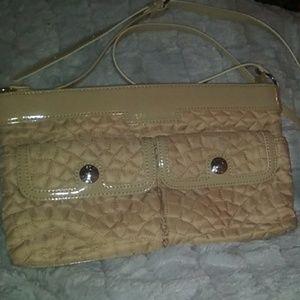 Vera Bradley khaki shoulder bag